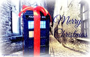 Merry TARDIS Christmas by GermanCompanion