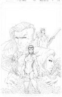 Fathom: The Elite Saga #5 Cover Pencils (A) by vmarion07