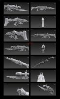 Contention: Exohuman Faderian T2 Battle rifle by Malcontent1692