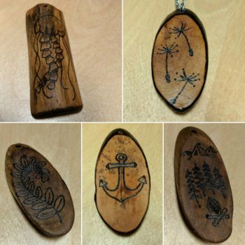Driftwood Jewelry by Chiropterix-esque
