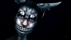 Cheshire Cat Makeup from Alice: Madness Returns 2 by VisualJamie