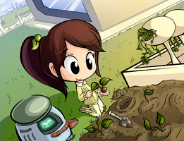 Planting Seedlings by Ric-M