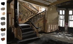 Speedpaint Abandoned place by tigon