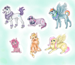 My little pony dogs by Talitah