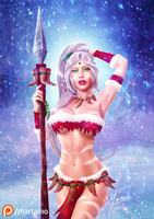 Snow Bunny Nidalee .NSFW optional. by martaino