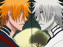 Ichigo vs Hichigo - Bleach by doubleu42