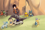 COMMISSION: Pokemon Team 4 by SeviYummy
