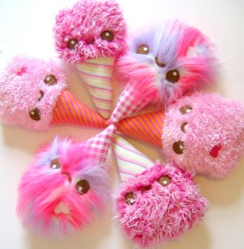 Cotton Candy Critters by kickass-peanut