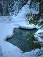 Snowy Creek by nbanyan