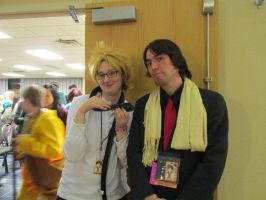 Virus and Mr. Gold by GeniebabyFelicia