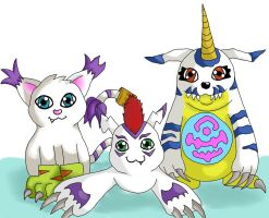 Digimon Charas by shaina773