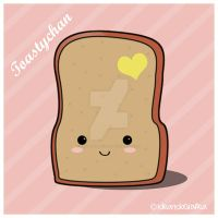 Kawaii: Toastychan by IdeandoGrafica