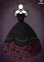 Dark Wedding Dress by Neko-Vi