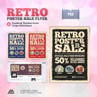 Retro Poster Sale Flyer PSD by MaxieLindo
