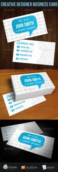 Blue Talk Bubble Creative Designer Business Card by madebygb