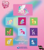 My little pony minimalism stamps by MysticWonderingWoman