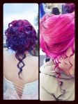 official hairstyle with blue and pink by LoveAsia