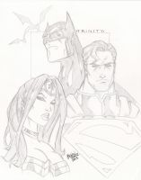 DC Trinity: Batman Wonder Woman Superman by BrianVander