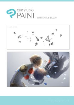 CLIP Paint Butterfly Brush by Escente