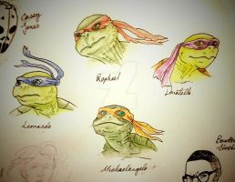 Ninja Turtles Concept Art by IronOutlaw56