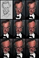 Steven Spielberg Drawing Process by creaturedesign