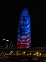 Torre Agbar by Night by remmy77