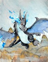 Mega Charizard X by Visoris