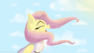Fluttershy Enjoying the Wind by BronyHands