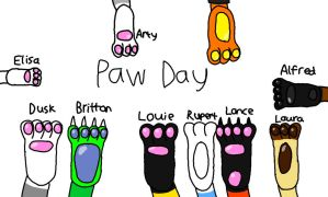 Paw Day by LouieYellowFox