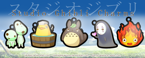 Studio Ghibli Charms by Pluffers