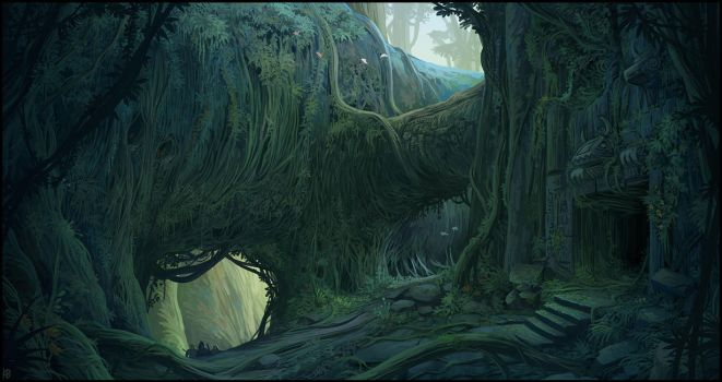 Ancient jungle temple by Karbo