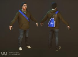 Adam Video game character by Azraele