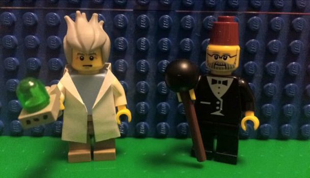 Lego Rick and Grunkle Stan by LucifersLego