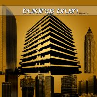 Buildings brush by Flina-Stock