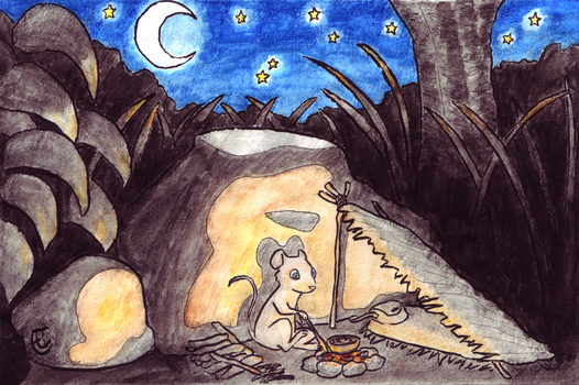 Camping Mouse by Stormpaw