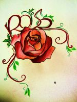 Rose Tattoo Design by HamysArt