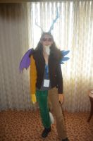 Discord cosplay at Bronycon 2014 by lainwiththedevil