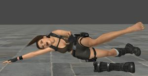 Lara Croft Tickled By Invisible Force 2 by Stryder28