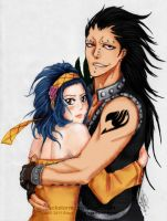 Fairy Tail: Gajeel x Levy -Coloured by CaityKitty13