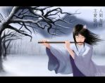 The Flute Player by haohaohayashi
