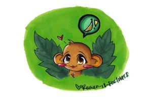 Monkey-kun for Rueann by Ramen-is-for-lovers