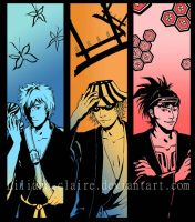 Bleach bookmarks - men by Liliana-Claire