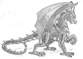Graphite Dragon by Andy-B123