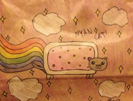 Paper Bag Nyan Cat by TheLadyOfBlack