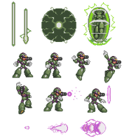 Megaman styled Sprite by Palinor