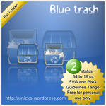 Blue trash by unicko
