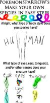 My creature meme filled by Sparrow-Kaizu