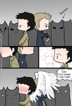 Day 22: In battle, side-by-side (Destiel) by Nile-kun