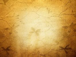 Gold Grunge Flowers by AllStock