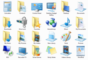Icons in Windows 7 Build 7048 by taimurasad